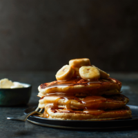 Banana butterscotch pancakes