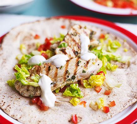 Lemon & yogurt chicken flatbreads