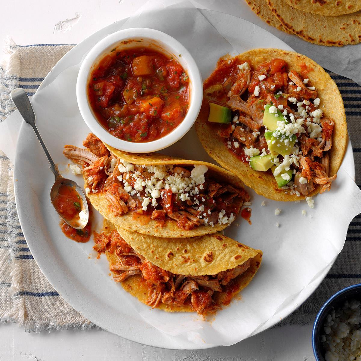 Pressure Cooker Pork Tacos with Mango Salsa