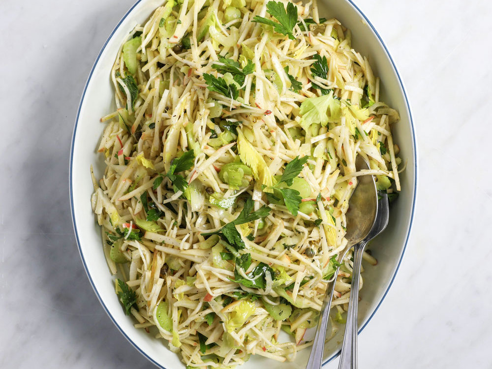 Celery Root, Apple and Fennel Slaw