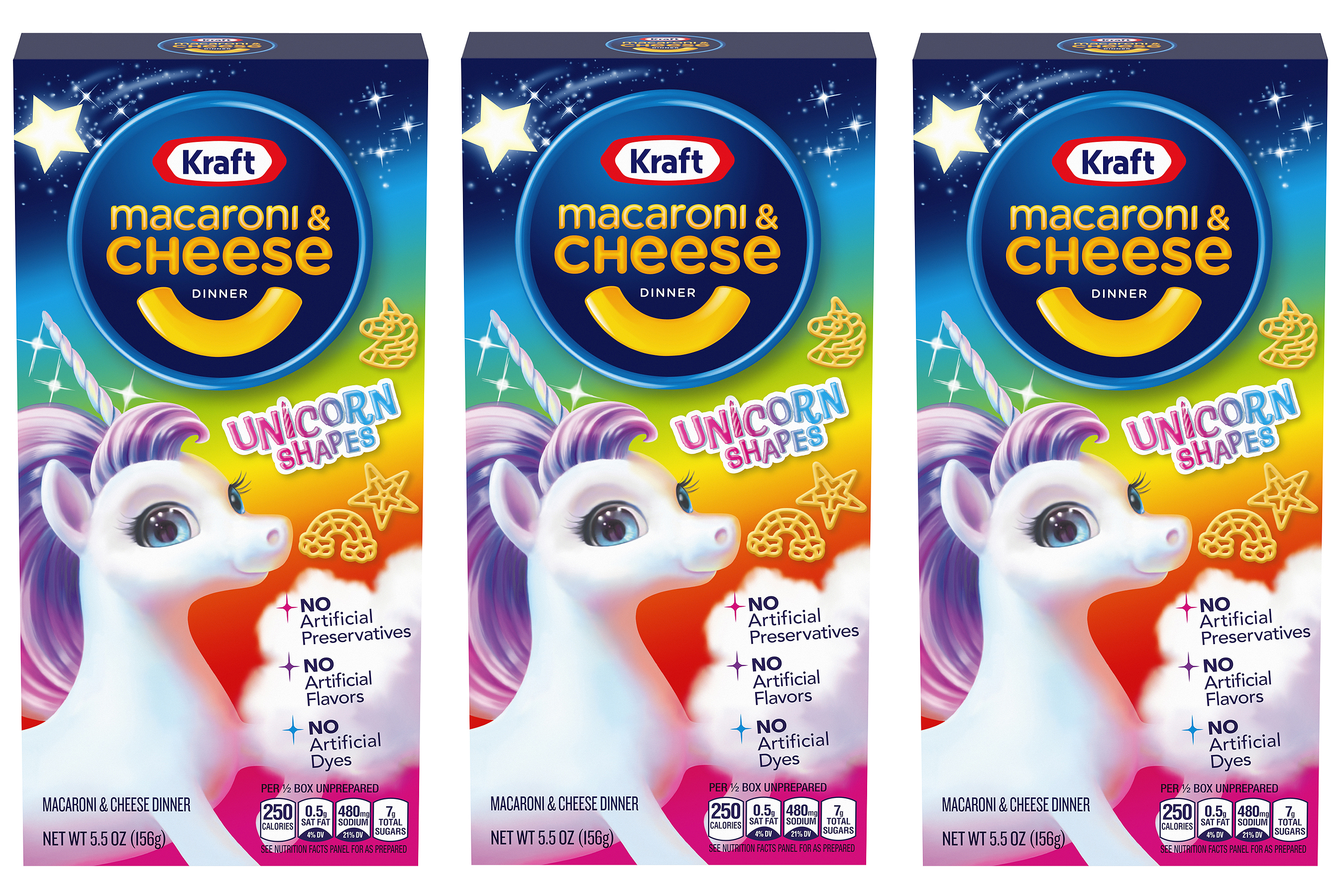 Kraft Macaroni and Cheese Now Has Unicorn Shapes