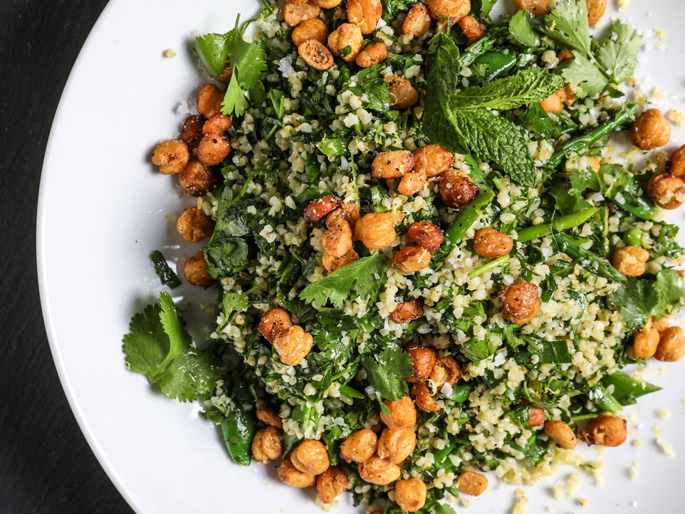 Spring Vegetable and Herb Tabbouleh Salad