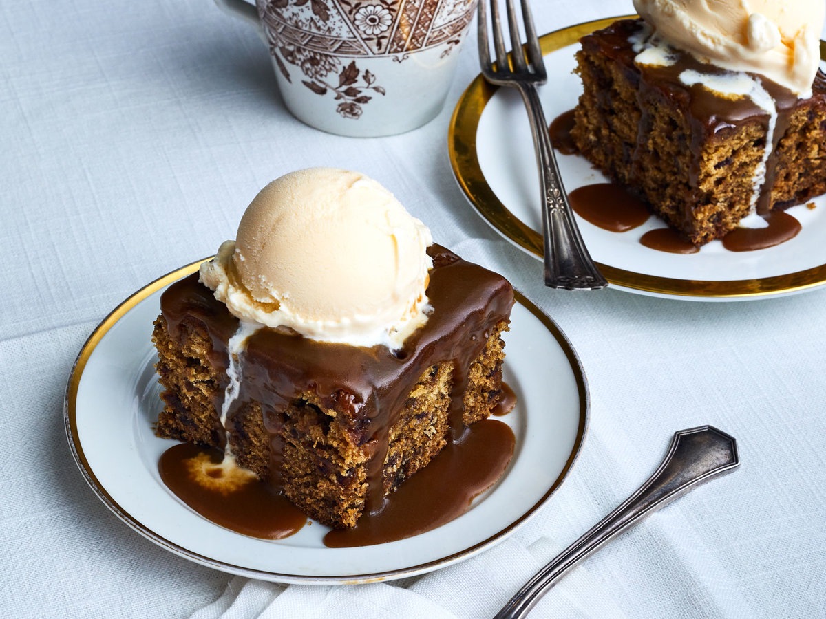 Sticky Toffee and Earl Grey Pudding