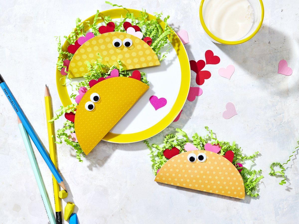 Food-Inspired Valentine's Cards for Kids