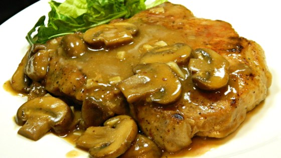 Pork Chops in Garlic Mushroom Sauce Recipe