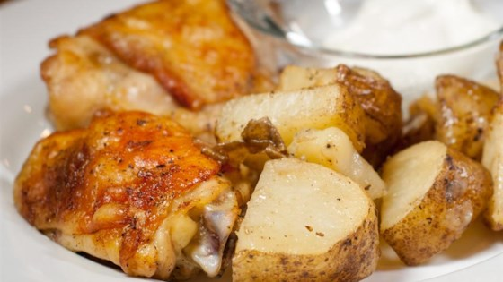 Garlic Roasted Chicken and Potatoes Recipe