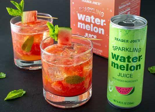 Trader Joe's Unveils Sparkling Watermelon Juice for Summer