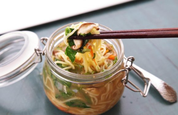 DIY Instant Noodles With Vegetables and Miso-Sesame Broth Recipe