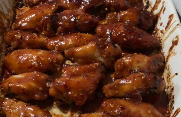 Honey soy wings