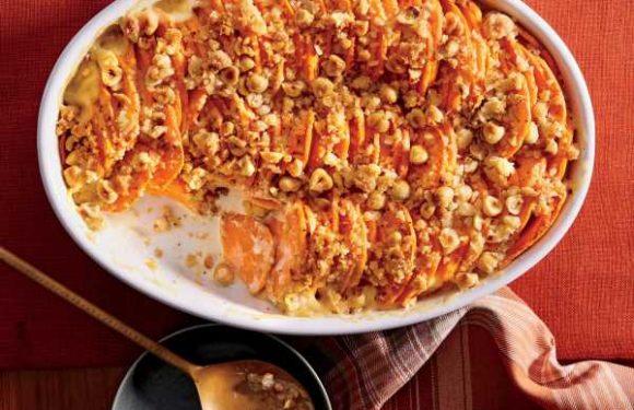 Hasselback Sweet Potato Casserole