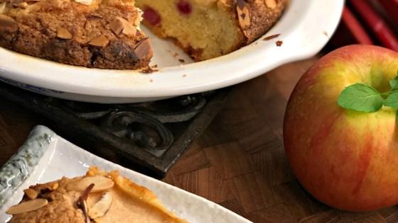 French-Style Apple Rhubarb Cake Recipe