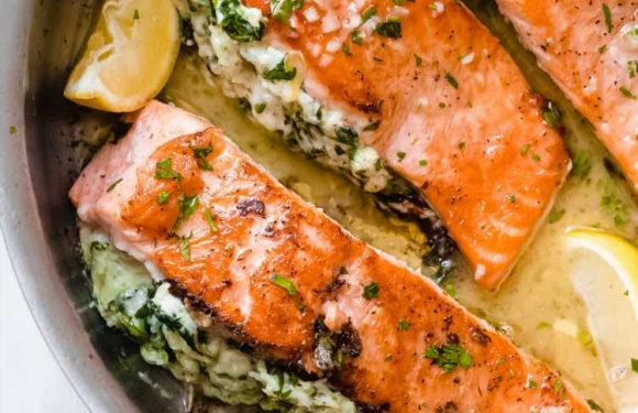 This Spinach and Artichoke Stuffed Salmon Is the Only Thing I Want to Eat Right Now