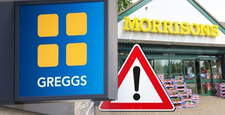 Morrisons food recall: Urgent of serious health risk extended to Greggs and Alton Towers