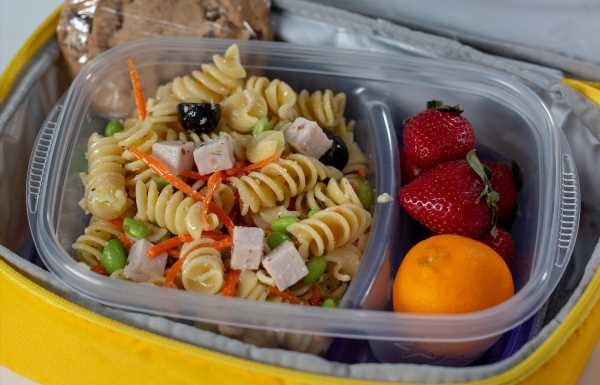 Leftovers Lunchbox Pasta Salad