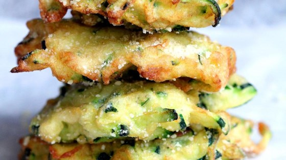 Zucchini-Parmesan Cheese Fritters Recipe