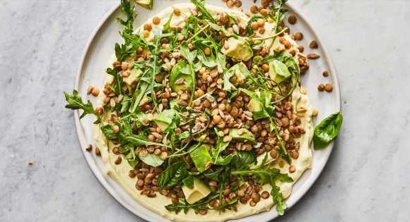 Big Green Lentil Salad