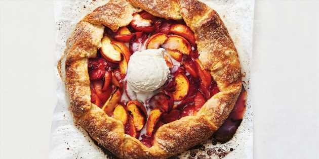 Peach-Plum Galette