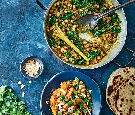 Squash, chickpea & coconut curry