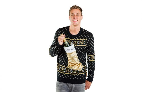 André Is Selling Sparkling Wine-Themed Holiday Sweaters