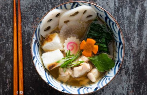 Ozoni (Japanese New Year's Soup) With Mochi, Chicken, and Vegetables Recipe