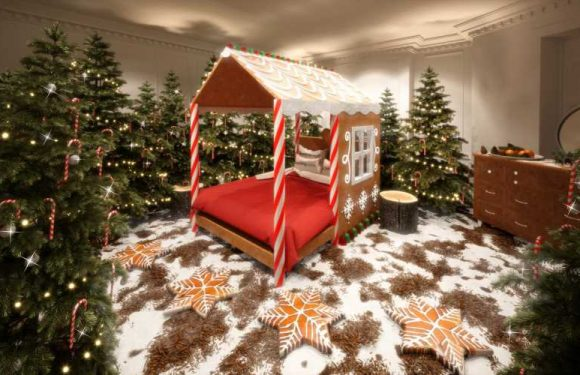 You Can Stay in a Giant Edible Candy Cane House This Holiday Season