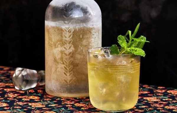 Tarragon-Mint Vodka