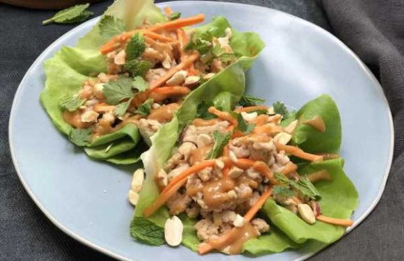 Thai-Style Lettuce Wraps With Peanut Sauce