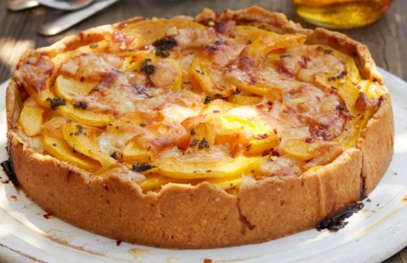Butternut Squash Tart with Chile Honey