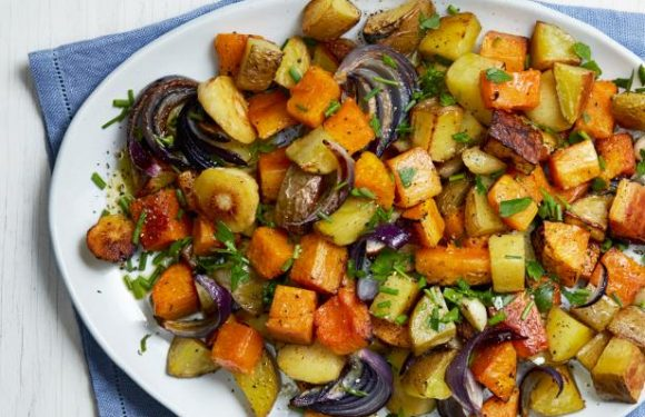 Roasted Squash, Parsnips and Potatoes