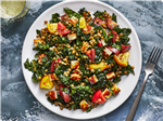 Lentil Salad With Fried Halloumi
