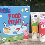 Peppa Pig Food Paint Encourages Picky Eaters To Play With Their Food And Is Made From Fruit Puree