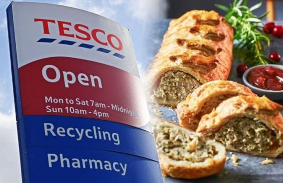 Tesco unleashes UK first with giant sausage roll log for Christmas plus 25 percent off