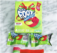 Fruit By The Foot Now Has Holiday-Flavored 'Mini Feet' Snacks That Taste Like Fruit Punch