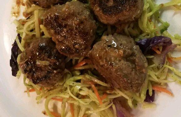 Honey-Garlic Moose Meatballs