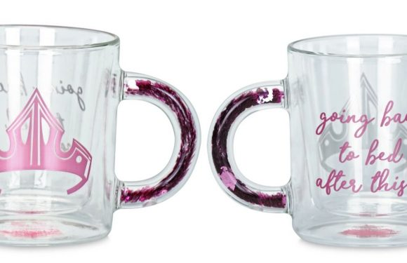 Disney's New Glass Mugs Come With Glitter-Filled Handles For A Magical Look