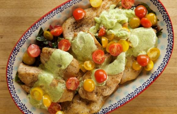 Chicken with Pesto Cream