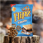 Flipz Has A New S'mores Flavored Pretzel And It's Covered In Marshmallow Drizzle