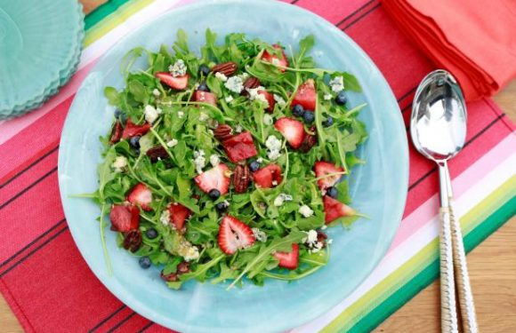 Grilled Watermelon Salad with Sweet and Spicy Vinaigrette